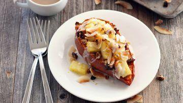 Vegan Pineapple Coconut Sweet Potatoes