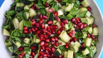 vegan pomegranate salad