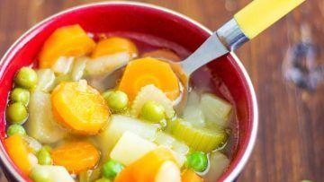 spring vegetables soup
