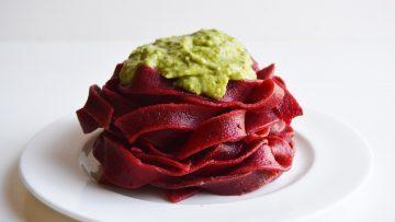 vegan beetroot pasta