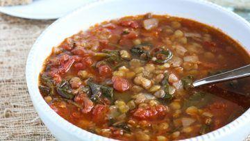 vegan easy lentil soup