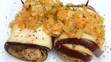 vegan eggplant rolls