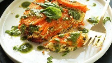 vegan sweet potato lasagna