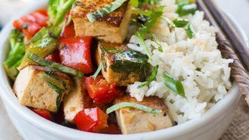 vegan thai basil tofu