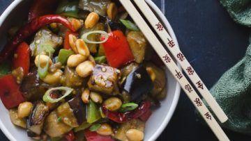 Vegan Kung Pao Eggplant