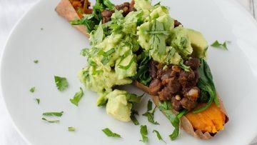 vegan mexican stuffed sweet potato