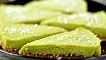 vegan raw key lime pie