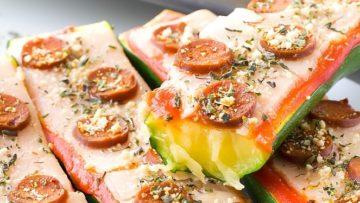 vegan zucchini pizza boats
