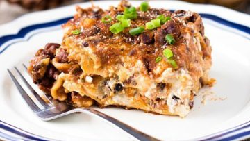 vegan black bean lasagna