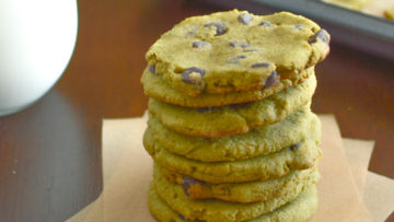 vegan green tea chocolate chip cookies