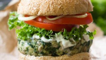 vegan kale burgers