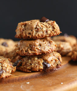 vegan peanut butter chocolate chips cookies