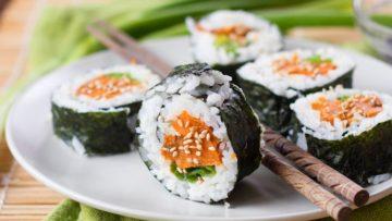 vegan sweet potato sushi
