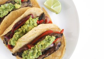 Vegan portobello tacos