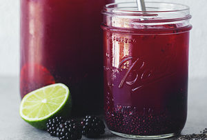 vegan blackberry lime chia fresca