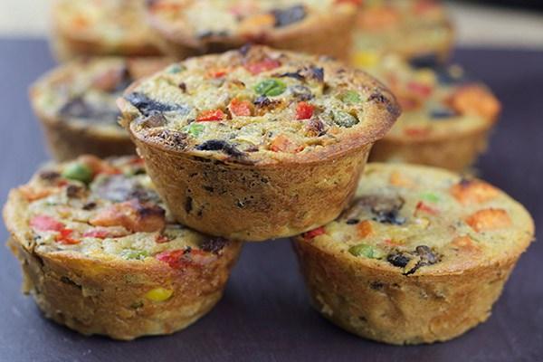 vegan chickpea veggie quiches