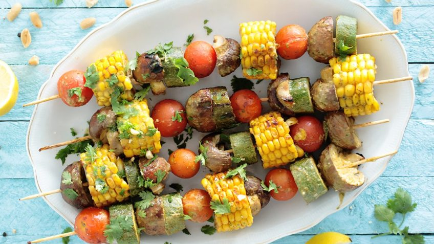 vegan grilled veggies skewers