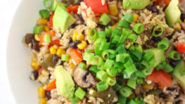 vegan mexican rice casserole