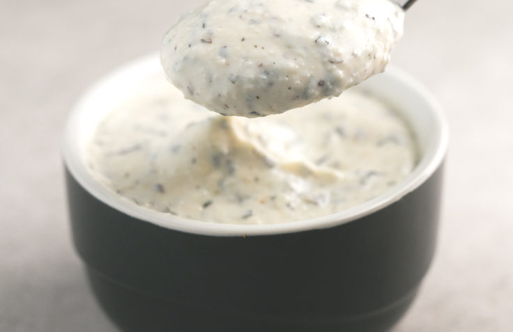 vegan oil free yogurt sauce