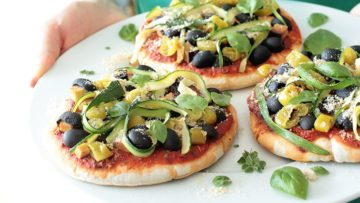 vegan pita pizza