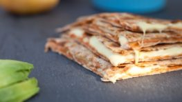 vegan quesadillas with homemade cheese