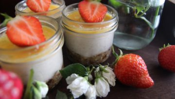 vegan raw passion fruit pots