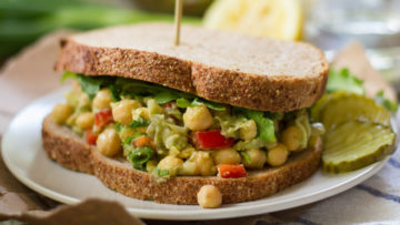 vegan smashed chickpea sandwiches