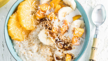 vegan tropical coconut oatmeal