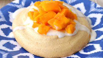 vegan tropical pavlova