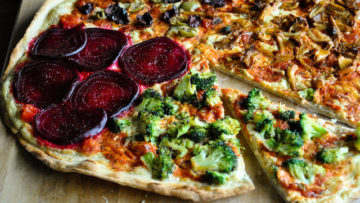 vegan four seasons pizza