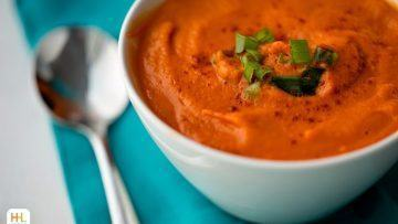 Vegan carrot pumpkin soup