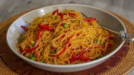Vegan Curried Singapore Rice Noodles