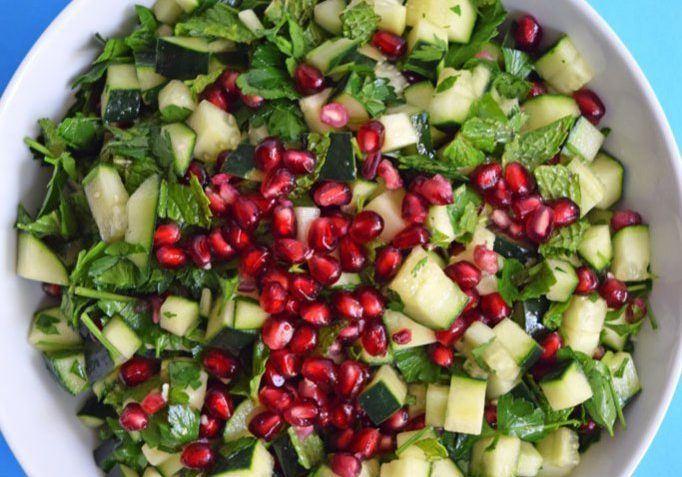 vegan pomegranate salad