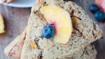 vegan peach scones
