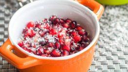 pomegranate chia pudding