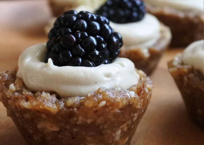 vegan blackberry lemon tarts
