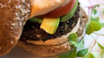 vegan quinoa burger