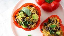 Vegan Quinoa Stuffed bell peppers