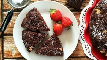 vegan chocolate brownie cake