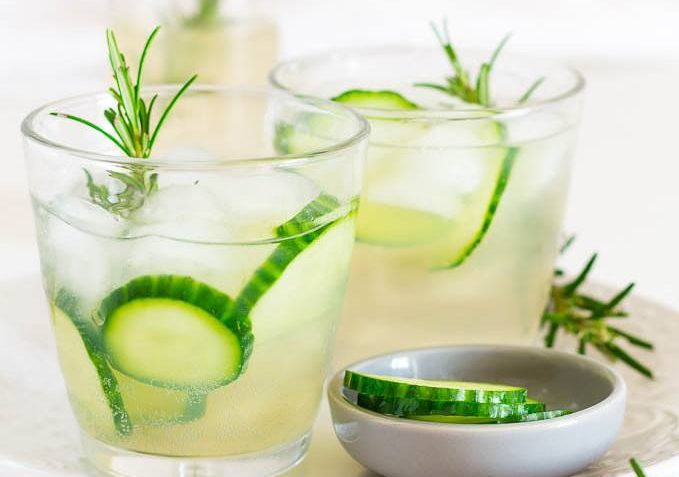 vegan rosemary and cucumber infused ginger beer