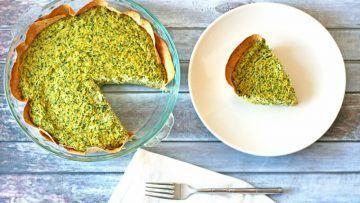 vegan spinach and artichoke quiche