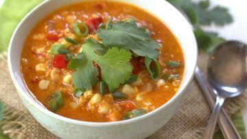 vegan thai red corn chowder