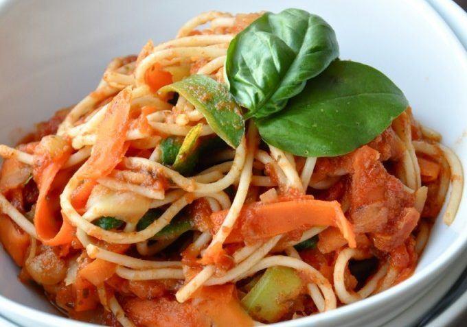 vegan three color pasta