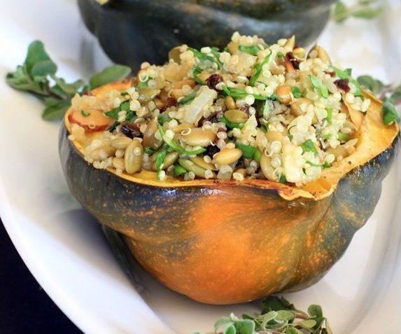 vegan acorn squash stuffed
