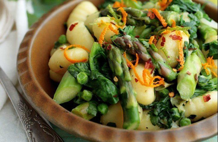 vegan asparagus gnocchi