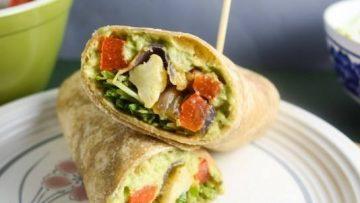 vegan avocado wraps