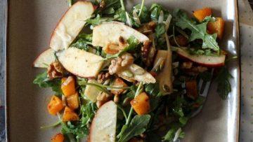 vegan butternut squash apple salad