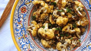 vegan caramelized cauliflower