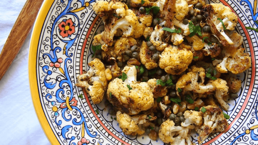 vegan caramelized cauliflower