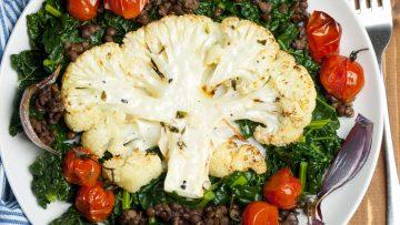 vegan cauliflowers steaks